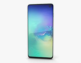 3D model Samsung Galaxy S10 Prism Green