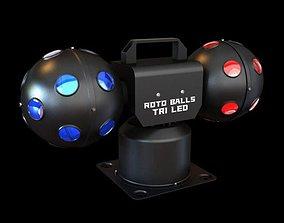 Portable Roto Ball Tri Led 3D model