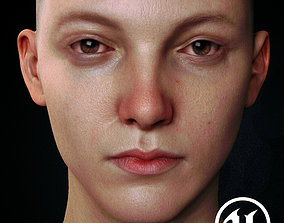 Young female high detailed character 8k maps on 3D asset