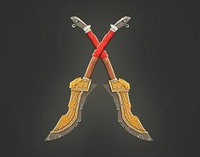 3D model low-poly Dagger