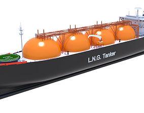 3D LNG Tanker Arctic Princess