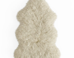 Forsyth New Zealand Sheepskin Skin Rug 3D model