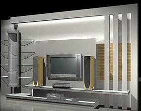 Console 3D Models cabinets shelf