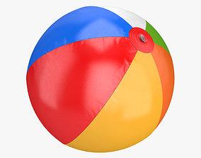 striped 3D model Beach ball