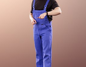 3D 11421 Jimmy - Working Man Mechatronics Engineer with