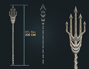 Aquaman Trident Cosplay STL files - Costume Weapons 3D