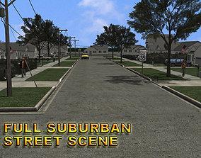 Suburban Street Scene 3D model