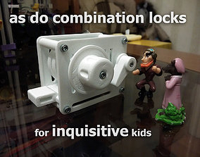 Combination Lock some improvements 3D printable model