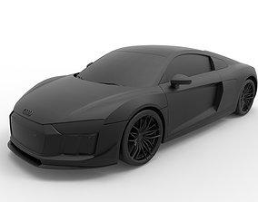 3D printable model Audi R8 V10