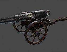cca 15th century style cannon 3D model