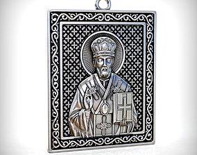 Saint Nicholas pendant 3D printable model