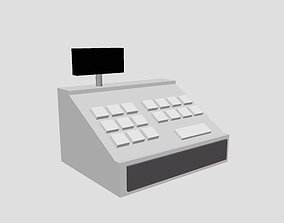 Low Poly Cash Register 3D asset