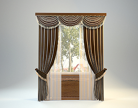 3D model Clasiic curtains