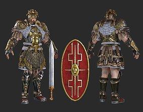 3D model Ancient Roman generals Consul commander Augustus