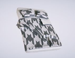 3D PBR Bed with Pillows