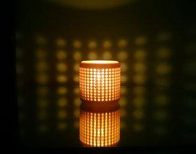 Candle holder 3D printable model candlestick-holder