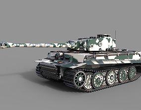 3D Tiger 1 Tank ww2 German Army