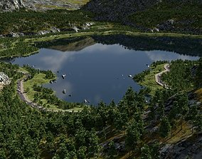 3D On the lakesides in Blender
