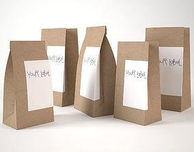3D model Paper bags