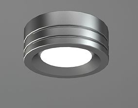 3D model Round Silver Lamp