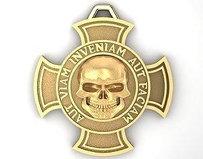 cross with skull 3D printable model