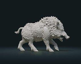 beast 3D printable model Wild Boar Figur