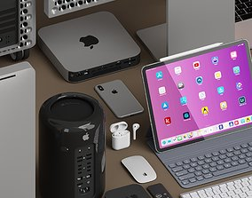 AD Apple collection 3D model VR / AR ready