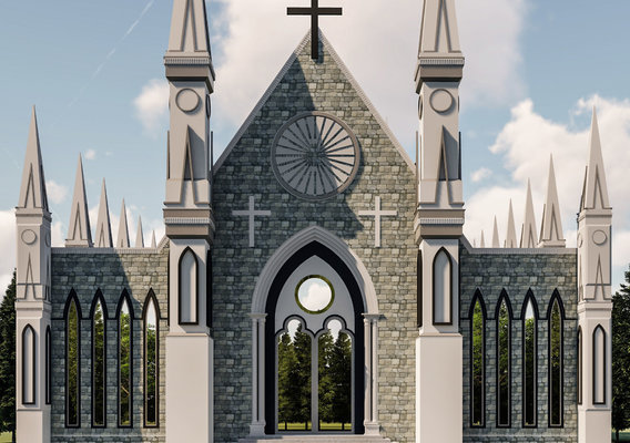 CHURCH RENDER IN LUMION 8.5 PRO