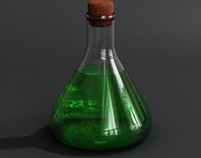 3D model flask POTION
