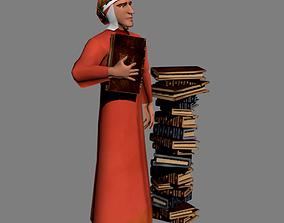 Dante Alighieri 3D asset