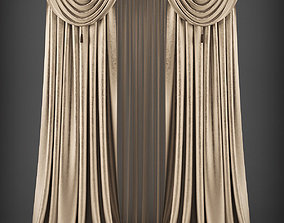 Curtain 3D model 276 game-ready