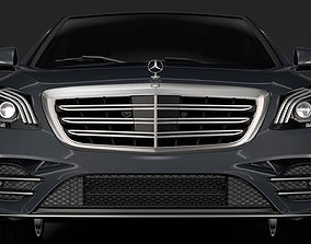 Mercedes Benz S 350 Lang AMG Line V222 2018 3D model