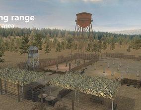 3D model Shooting Range - Restricted Area