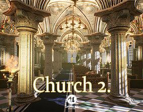 3D asset Church 2 Unreal Engine