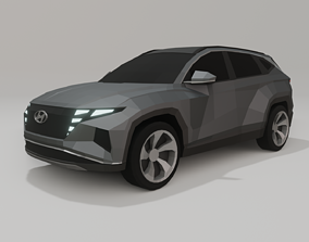Hyundai Tucson 2021 low poly 3D model low-poly