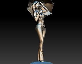 3D printable model Girl with an umbrella
