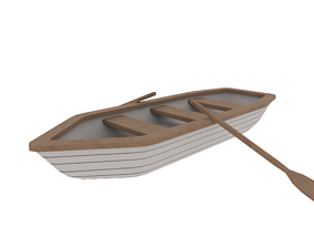 Rowboat 3D model realtime