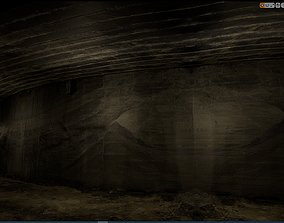 3D model Old Concrete Wall 01 13 F