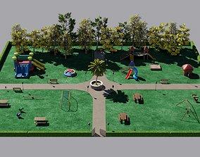 Play park 3D asset low-poly