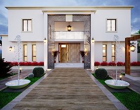 family 3d model Arabian Villa 3D model