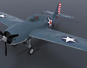 3D model GRUMMAN F4F-3 WILDCAT F26