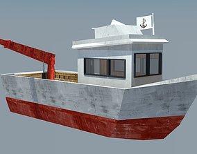 Fishing Vessel 3D model realtime