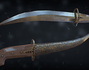 3D model VR / AR ready PBR Dagger