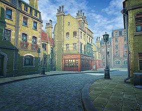 Stylized Town 3D model