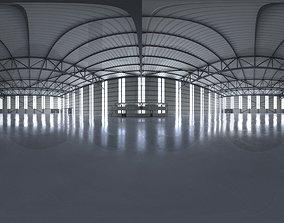 HDRI - Airplane Hangar Interior 2 3D model