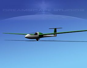 3D model rigged low-poly Venture Sailplane