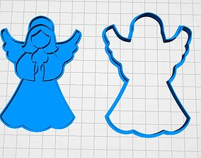 cookie cutter angel ginger 3D print model