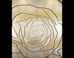 Decorative panel on the wall metal 3D model