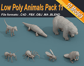 VR / AR ready Low Poly 3d Art Animals Isometric Icon Pack