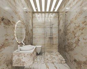 bath room interior design 3D model